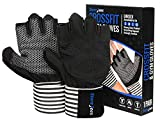STOREJEES Weight Lifting and Work Out Gym Gloves with Wrist Support Fingerless Ventilated Pair for Men and Women - Full Palm and Thumb Protection and Natural Grip for Crossfit Training Exercises