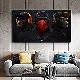 XWArtpic Große Tier Bild Leinwand Gedruckt Malerei Moderne Lustige Maske AFFE Moderne Kunst pPrint...