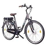 """NCM Munich N8C 28"""" E-Bike City Rad, 250W, 36V 13Ah 468Wh Akku, mit Rücktrittbremse (N8C Anthrazit)"""