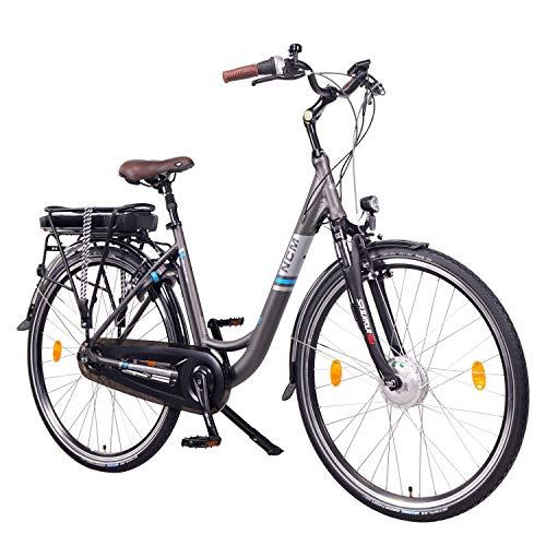 NCM Munich N8C 28' Bicicletta elettrica City E-Bike, Batteria 36V 13Ah 468Wh, Motore Anteriore e con Freno a contropedale.