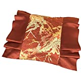 Funda de cojín japonés, hecha a mano, de seda, con bonito bordado japonés, funda de almohada decorativa, decoración para coche, sofá, cama, casa, oficina, diseño de flores de ciruelo