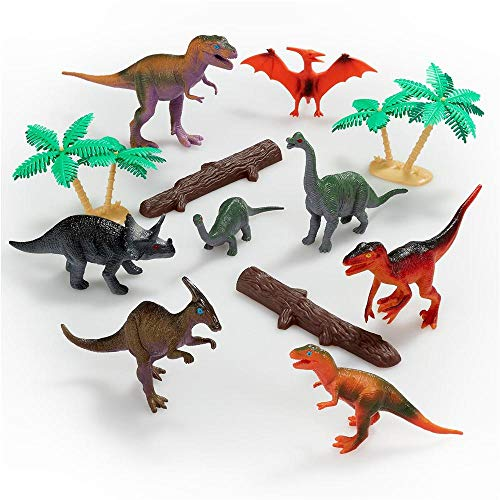 ANIMAL WORLD – Dinosaures – Set N.2 de Mini Figurines