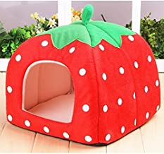 PetSupplies Dog-specific Durable Fashion Pet Strawberry Waterloo Safe and comfortable (Specification : Red Size L)