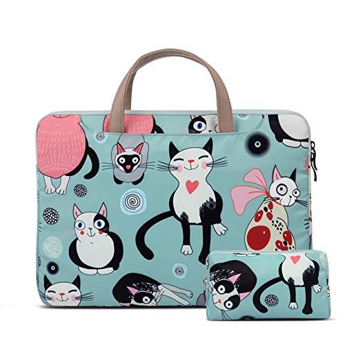 Netbook Handtasche Laptoptasche für MacBook Air Pro Retina 11 13.3 für Xiaomi 12.5 15.6 Cats Pattern Style Cute-einstellen_15,6 Zoll