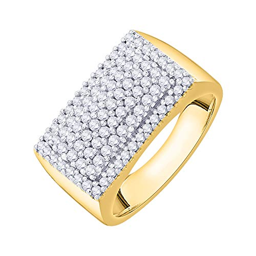 Diamond Fashion Ring in 14K Yellow Gold (3/4 cttw) (I-Color, SI3/I1-Clarity) (Size-9.5)