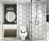 Stafeny Pegatinas de rejilla impermeables, pegatinas de pared, pegatinas de pared, papel pintado autoadhesivo, decoración para dormitorio y cocina.