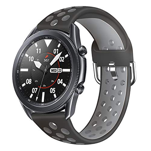 AOTVIRIS Compatibile con 22mm Cinturino Galaxy Watch 3 45mm Galaxy Watch 46mm Gear S3 Frontier Classic Braccialetto Silicone Cinturinoi Polso Band per Huawei Watch GT GT 2 46mm GT 2e Ticwatch PRO