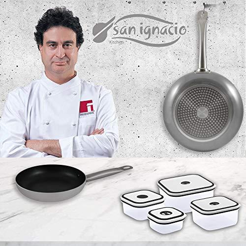 Bergner Professional Chef Platinum 2 sartenes + 4, Aluminio Forjado, Set + Fiambreras