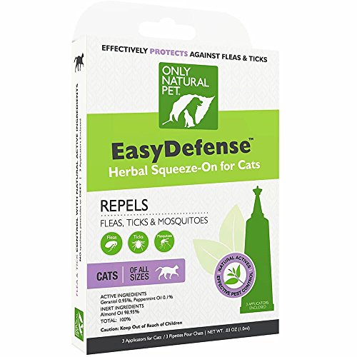 EasyDefense Flea Remedy - Natural Flea Treatment Control Squeeze-On Drops