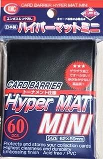 KMC Sleeves MHM1584 Deck Protectors Mini Hyper Black, Pack - 60 by KMC Sleeves