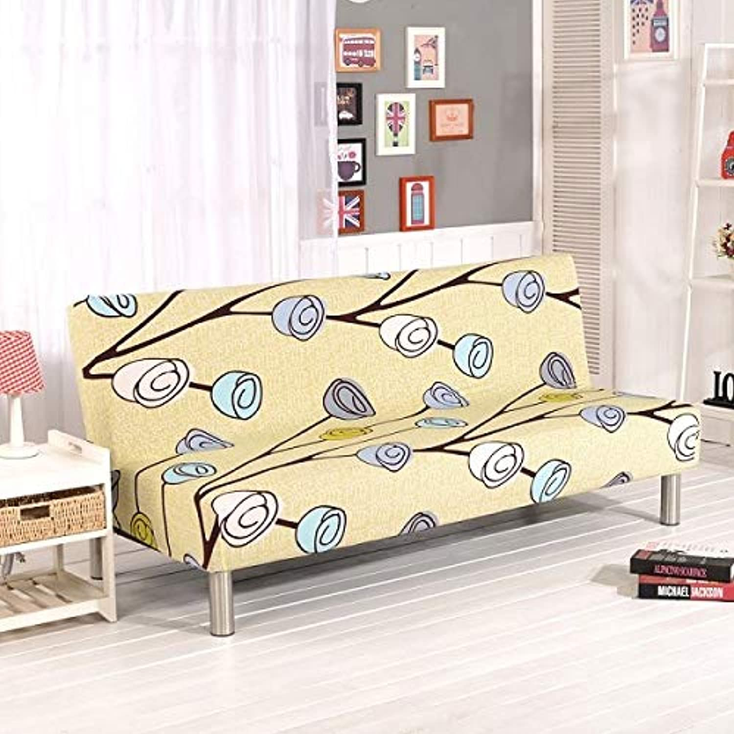 Farmerly Sofa Cover Elastic Sofa Bed Cover All-Inclusive Slipcover for Sofa Without Armrest No Handrail Cover Size 160-210cm   16, 160 to 195cm