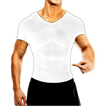 MuscleMan 加圧シャツ メンズインナー 白M