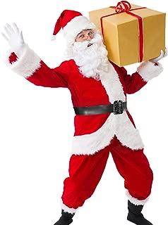 Christmas Santa Claus Costume Set Men's Santa Costume Deluxe Santa Suits
