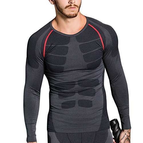 Cheapest Prices! Men' s Active Performance T-Shirt, Tight Fit Dry Fit Moisture Wicking Long Sleeve A...