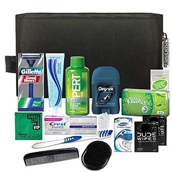 Convenience Kits International Men's Premium 15 Piece Assembled Travel Kit Featuring  Gillette Disposable Razor and Crest Toothpaste