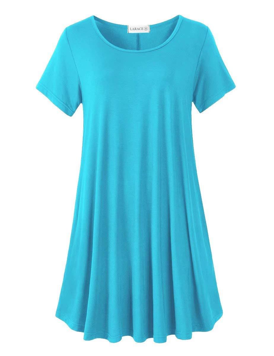 Available at Amazon: LARACE Women's Short Sleeve Swing Tunic Casual Pockets Loose T Shirt Dress