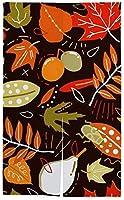 TINZZEROS のれん おしゃれ 落ち葉のさまざまな色 可愛 夏涼しく 半遮光 おしゃれ お店 和室の 浴場 部屋の リビングルーム・ポーチ・洗面所・台所用 冬用 突っ張り棒付き 幅85㎝×丈120㎝