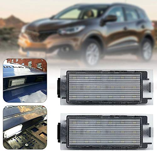 Luces de matrícula del Coche, Licencia Número Placa Lámparas de Luz, 12V 3W 6000K 8200480127, 265108474R para 2006+ Renault Master Megane Twingo Twizy Vel Satis