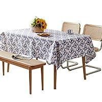 ピクニック布 リネンテーブルクロスキッチンテーブル装飾防水耐油太い長方形テーブルカバーティーテーブルクロスカントリースタイル テーブルクロス (Color : A, サイズ : 100*140cm)
