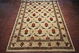 Manhattan Oriental Rugs 14X25 Art & Craft Hand Knotted Wool Rug Ivory Oversized Carpet (13.10 x 24.6)