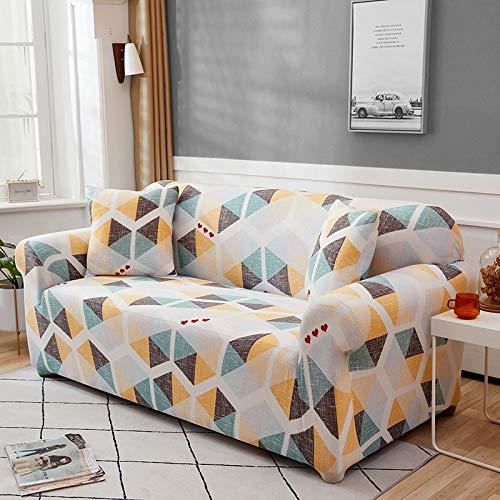 Funda de sofá Funda de sofá elástica geométrica para Sala de Estar Sofá de Esquina seccional Moderno Funda de sofá Funda de sofá Protector de Silla A11 3 plazas