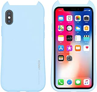 For iPhone XS Max BONNY Shockproof Solid Color Soft Protective Case New (Pink) Hopezs (Color : Light Blue)