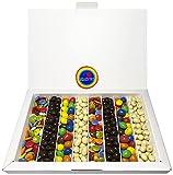 Caja Thank You de Chocolate, Incluye Conguitos de Chocolate, Lacasitos, M&Ms de Colores Relleno Cacahuete y Conguitos de Chocolate Blanco. Regalo Original de Chocolate para Cumpleaños o Aniversario.