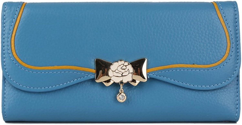 ZQ Brieftasche Weibliche Lange Leder Clutch Bag Große Kapazität Mode Schnalle Handytasche Leder Damen Brieftasche B07DZY99P8