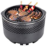 Leisurewize - <span class='highlight'>Portable</span> Fan Assisted Compact Barbeque - Grill - Ideal For: Camping, Caravanning and Travelling