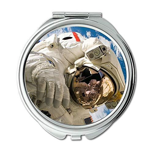 Yanteng Spiegel, Mausefalle Flasche Erde, Erde Blue Planet Globus Planet Space Universe0 Schminkspiegel, Taschenspiegel, tragbarer Spiegel
