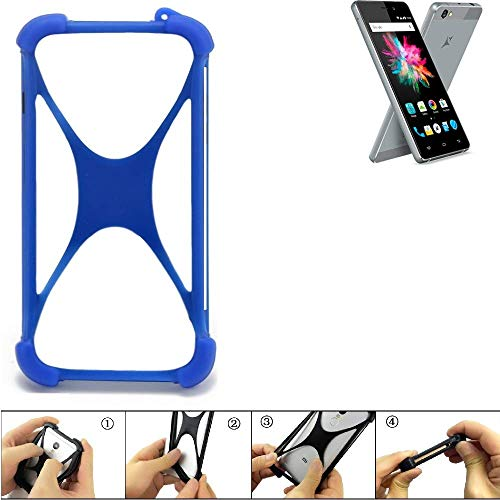 K-S-Trade® Handyhülle Für Allview X3 Soul Mini Silikon Schutz Hülle Cover Case Bumper Silikoncase TPU Softcase Schutzhülle Smartphone Stoßschutz, Blau (1x),