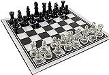 Profesional Tablero de ajedrez de Calidad Conjunto de ajedrez, ajedrez de cristal elegante anti-roto con juego de juguetes juego de almacenamiento para juegos de fiesta en casa al aire libre para adul