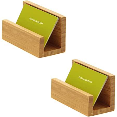 Genuine Tropical Solid Wood Hand Business Card Holder