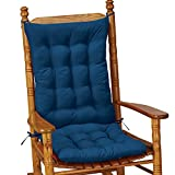 Collections Etc Quilted Chair Cushion Set - Perfect for Rocking Chairs, Dining Chairs or Armchair, Blue
