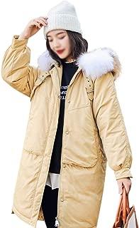 LUKEEXIN Women's Plus Size A-line Down Jacket Winter Warm Loose Coat with Fur
