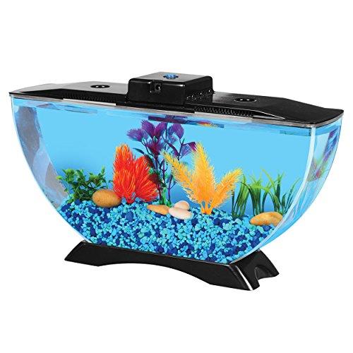 BettaTank 1-Gallon Deco Fish Tank with LED Lighting