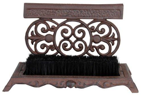 Esschert Design Schuhschaber, Schuhabstreifer aus Gusseisen mit Bürste, ca. 29 cm x 19 cm x 17 cm