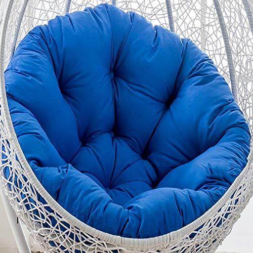 BANNAB Swing chair cushion, Round Fluffy Cotton Wicker Hanging egg chair cushions Pad Patio Garden-Royal blue 105x105cm(41x41inch)