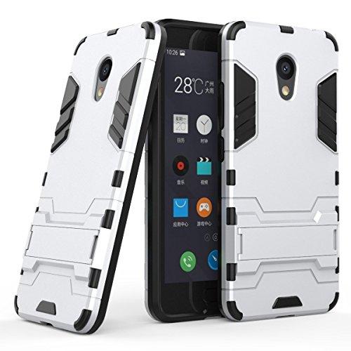 Anfire Meizu M5C Hardcase, Hochwertigem Ultra Slim Leichte Tough Bumper [Soft TPU Frame] Hybrid R&umschutz Handyhülle Faltbarer Halterungen Schale Hülle für Meizu M5C (5.0