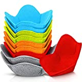 10 Pieces Bowl Hugger Microwave Safe Holder Practical Bowl Holder Polyester Potholder Protector for Protecting Your Hands from Hot Dishes Heating Soup, Red, Blue, Green, Orange and Gray