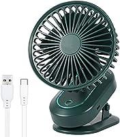 SOSU 扇風機 卓上扇風機 USB扇風機 PSE認証済 クリップ扇風機 扇風機小型 超静音 強力 大風量 風速3段階調節 全方位送風 便利 コンパクト 電池内臓 せんぷうき 宅内/オフィス/車の中/洗面所/トイレにも使用可能