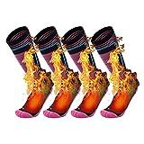 Remebe 2 Pares de Calcetines de esquí de Alto Rendimiento para Deportes de Invierno, esquí, Snowboard, Calcetines para Mujer