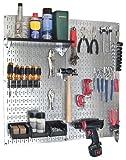 Best Garage Organizers - Wall Control 30-WGL-200GVB Galvanized Steel Pegboard Tool Organizer Review