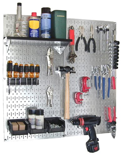 Wall Control 30-P-3232GV Galvanized Steel Pegboard Pack