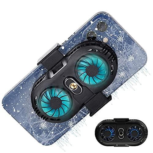 AWYLL Radiador de teléfono móvil Ventilador de teléfono 3 Segundos Refrigeración rápida Semiconductor Disipador de Calor Enfriador de teléfono para Tiktok Transmisión en Vivo, Vlog al Aire Libre