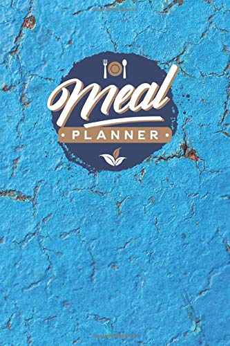 Meal Planner: 52-Week Menu Planner with Weekly Grocery Lists & Blank Recipe Cards (Blue Retro Theme)