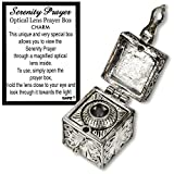 Ganz Serenity Optical Lens Prayer Box Charms, 51/8' Sq. x 1' H, Silver
