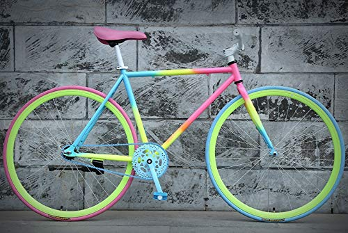Best Prices! Dszgo 26 Inches and 30 Knives Rainbow-Colored City Bicycles, Young Men and Women Studen...