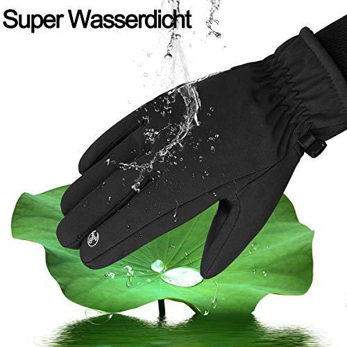 Yobenki Warm Winterhandschuhe Fahrradhandschuhe wasserdichte Touchscreen Handschuhe Skihandschuhe rutschfest Sporthandschuhe Unisex für Snowboarden, Motorrad - 5