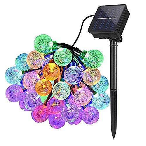 LTJChristmas Color String Lights, Waterproof Solar Landscape Lights, Used for Home, Outdoor Courtyard, Garden Christmas Decoration (30 LEDs).